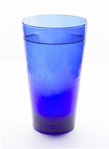 Free Blue Glass Filled With Water Royalty Free Stock Photo - 16807055