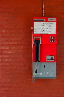 Thailand Public Pay Phone Royalty Free Stock Photography