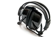 Free Black Headphones Royalty Free Stock Photography - 16807317