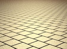 Free Beige Shiny Tiled Floor Stock Images - 16807524