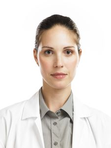 Free Woman With Lab Coat Royalty Free Stock Photos - 16807538