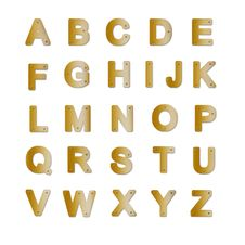 Free Brass Plate Alphabet Stock Images - 16807604