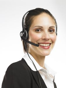 Free Woman With Headset 3 Stock Image - 16807621