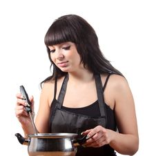 Women Cooking Royalty Free Stock Photos
