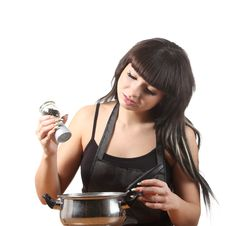 Free Women Cooking Stock Images - 16808174