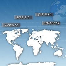 Free World Map Royalty Free Stock Photo - 16808395