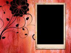 Empty Vintage Frame On Grunge Background Royalty Free Stock Image