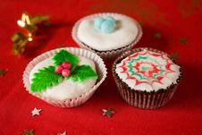 Free Homemade Christmas Cupcake Stock Photo - 16808990