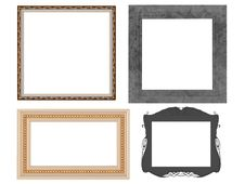 Free Set Of Decorated Empty Frames, Isolated Stock Photo - 16809070