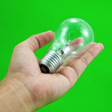 Free Lightbulb In Hand Stock Photos - 16809363
