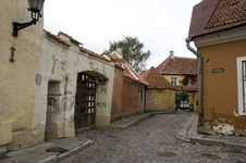 Street View In Tallinn Royalty Free Stock Image