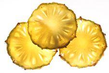 Free Pineapple Cross Cut . Royalty Free Stock Photos - 16809688