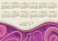 Free Calendar 2011 Design Royalty Free Stock Images - 16809779