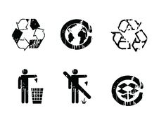 Free Recycle Symbols Grunge Effect Royalty Free Stock Photo - 16809925
