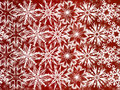 Free White Snowflakes On Red Background Stock Photos - 16814533