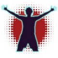 Free Young Man With Victory Pose Royalty Free Stock Image - 16814906