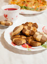 Free Сookies And Cup Of Hibiscus Tea Stock Photography - 16815442