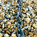 Free Chain On Pebbles Royalty Free Stock Photos - 16817018