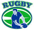 Free Rugby Player Passing Ball Royalty Free Stock Images - 16817499