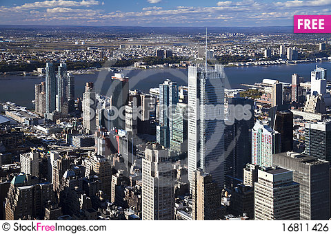 Free The New York City Panorama Royalty Free Stock Image - 16811426