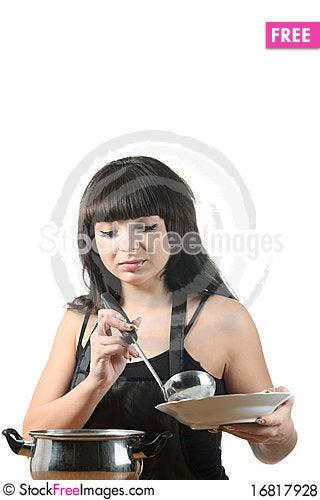 Free Women Cooking Royalty Free Stock Photos - 16817928