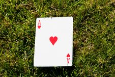 Free Ace Of Hearts Royalty Free Stock Photo - 16810055