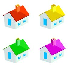 Free Multicoloured Houses Royalty Free Stock Photo - 16810205