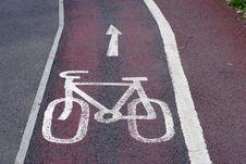 Free Bicycle Lane This Way Stock Images - 16810304