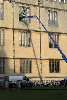 Oxford Window Cleaner Stock Photography