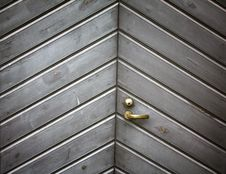 Free Wooden Gray Door. Royalty Free Stock Images - 16811099