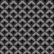 Seamless Geometric Checked Pattern. Royalty Free Stock Photography