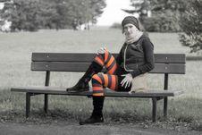 Free Striped Girl Royalty Free Stock Image - 16812046