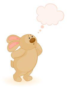 Cartoon Little Toy Bunny Stock Photography