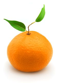 Free Tangerine With Leaves Royalty Free Stock Photography - 16812947