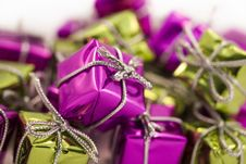 Free Purple And Green Parcel Background Royalty Free Stock Photo - 16813935