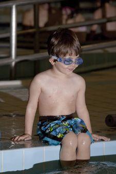 Free Boy Taking A Swim Lesson Royalty Free Stock Image - 16814376