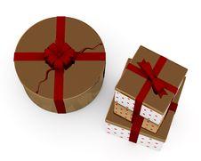 Free Christmas Gift Boxes Stock Image - 16814511