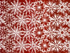 Free White Snowflakes On Red Background Stock Photos - 16814533