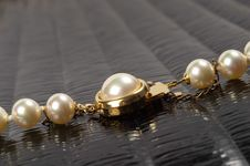 Free Pearl Necklace Fragment Stock Images - 16814844