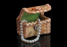 Jewelery Box With Necklaces Royalty Free Stock Images