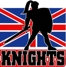 Free British Flag Knight Sword Shield Stock Images - 16817474
