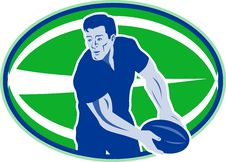 Free Rugby Player Passing Ball Stock Photos - 16817483