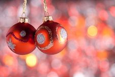 Christmas Ornaments On Abstract Background Stock Photos