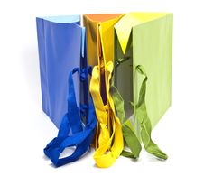 Free Bags Of Colored Paper Royalty Free Stock Images - 16817909