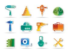 Free Building And Construction Tools Icons Royalty Free Stock Photos - 16818068