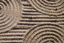 Free Lines And Circles In The Sand Stock Image - 16818071
