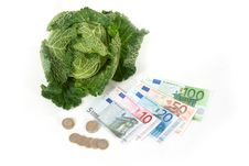 Free Savoy Cabbage And Euros Stock Image - 16818081