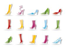 Free Shoe And Boot Icons Royalty Free Stock Photos - 16818088