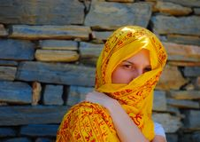 Free Young Woman With Yellow Veil Stock Photography - 16818202