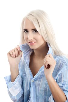 Free Blond Beautiful Woman Royalty Free Stock Image - 16818646